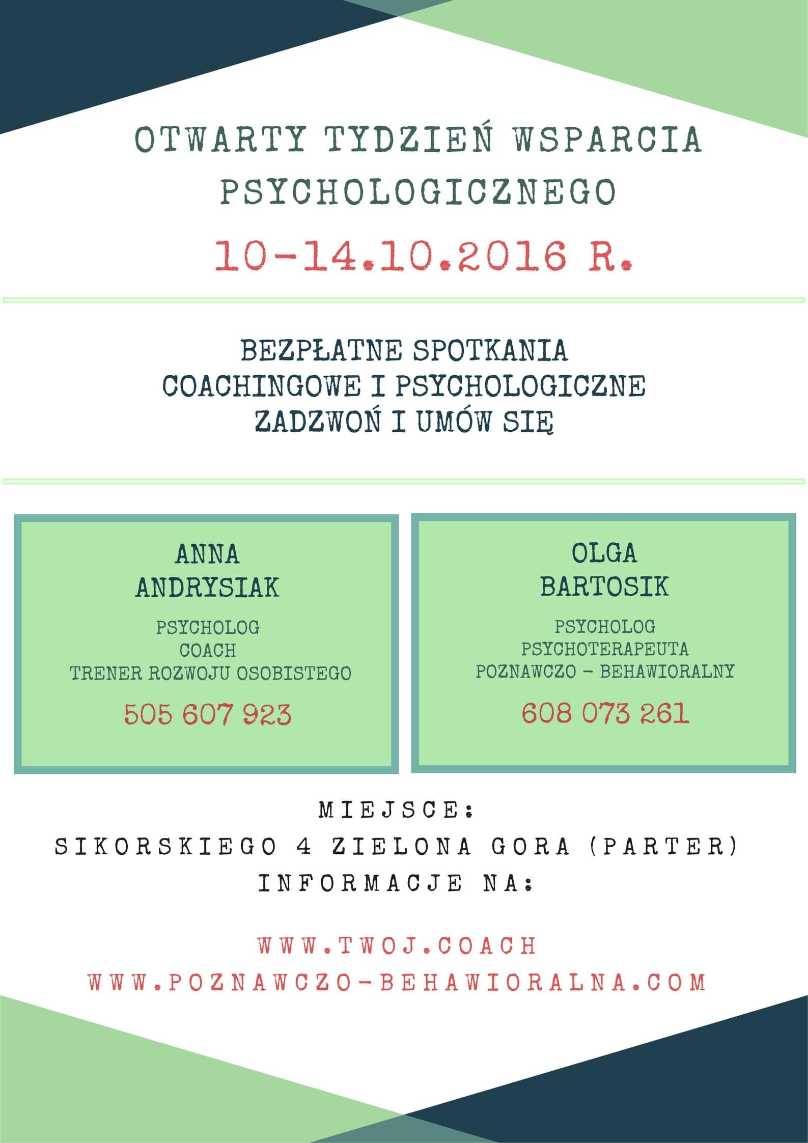 coaching Zielona Góra - tydzień otwarty